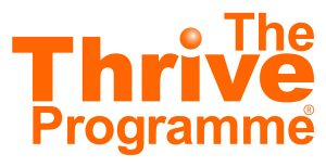 The Thrive Programme logo with Tania Clarke in Watford and Skype